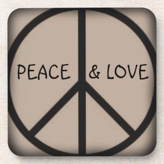 Ban the Bomb-Peace Sign/Peace and Love Coaster