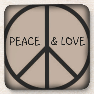 Ban the Bomb-Peace Sign/Peace and Love Coasters