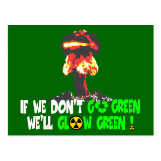 Ban the bomb postcard
