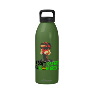 Ban the bomb reusable water bottle