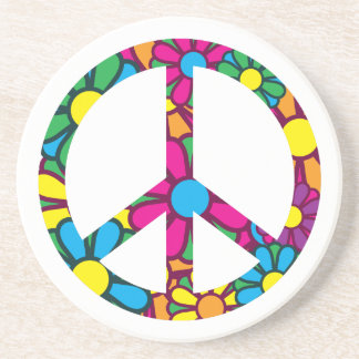 Ban The Bomb Sandstone Coaster