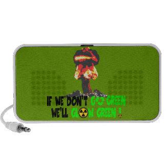 Ban the bomb travelling speaker