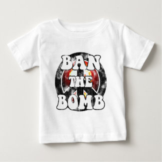 Ban The Bomb (worn look) Baby T-Shirt