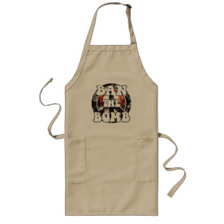 Ban The Bomb (worn look) Long Apron