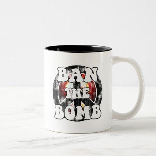 Ban The Bomb (worn look) Coffee Mug
