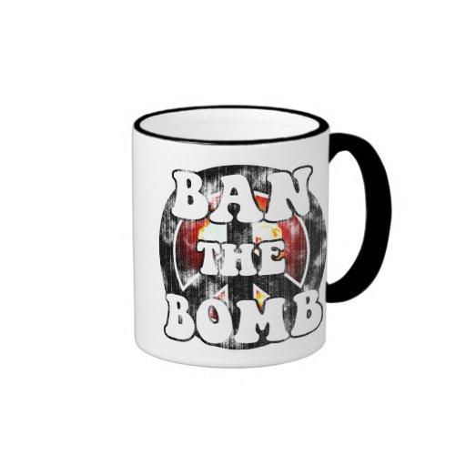 Ban The Bomb (worn look) Mugs