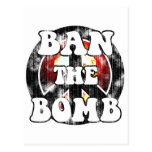 Ban The Bomb (worn look) Post Cards