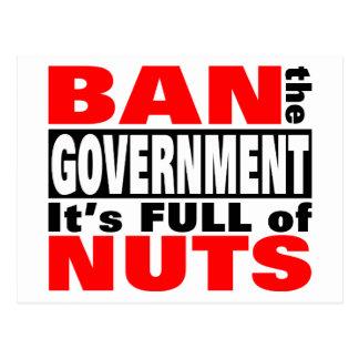 Ban The GOVERNMENT Postcard