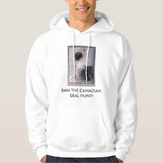 BAN THE SEAL HUNT Harp Seal Wildlife Supporter Hoodie