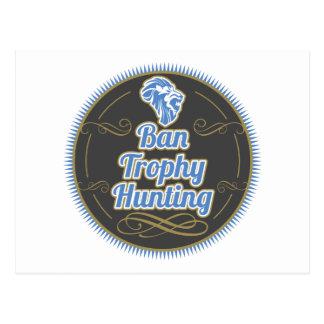 Ban Trophy Hunting Postcard