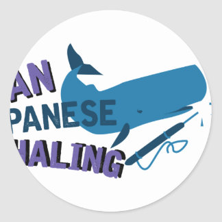 Ban Whaling Classic Round Sticker