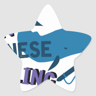 Ban Whaling Star Sticker