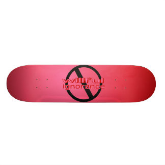 Ban Willful Ignorance Pink Skateboard