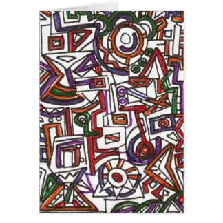 Banal colorido geométrico - dibujo abstracto de la felicitación