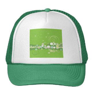 Banal verde florecido gorra