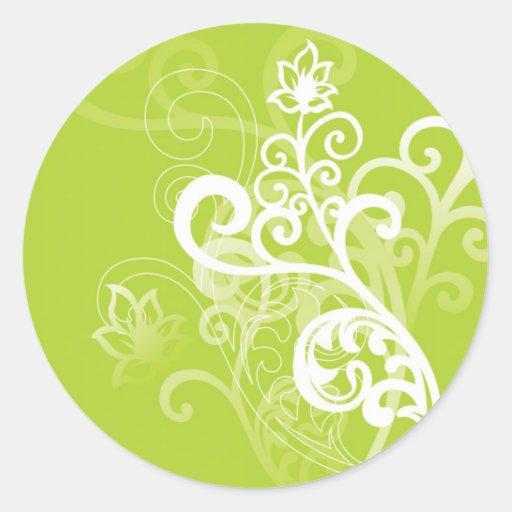 Banal verde pegatina redonda