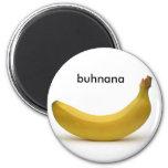banana 2 inch round magnet