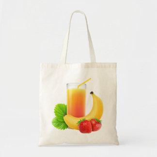 Banana and strawberry shake tote bag