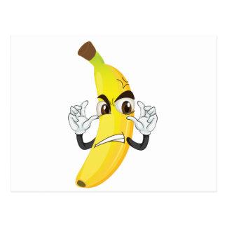 banana angry smiley postcard