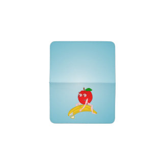 BANANA APPPLE OSTEOPATH zazzle small square.PNG Business Card Holder