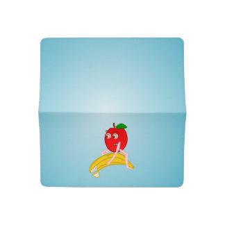 BANANA APPPLE OSTEOPATH zazzle small square.PNG Checkbook Cover