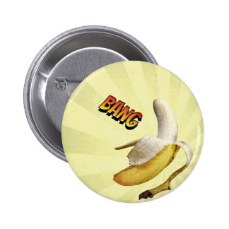 Banana BANG comic pop art Button
