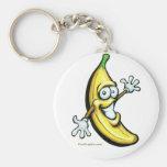 Banana Basic Round Button Keychain