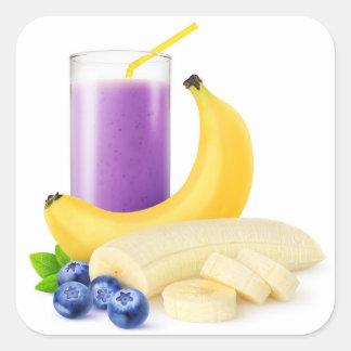 Banana blueberry smoothie square sticker