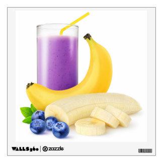 Banana blueberry smoothie wall sticker