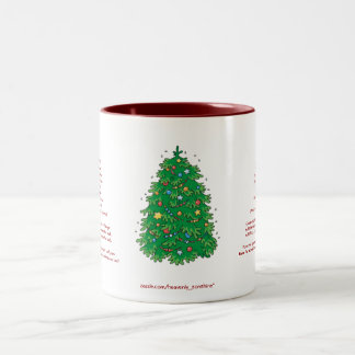 Banana Bread Christmas Two-Tone Coffee Mug