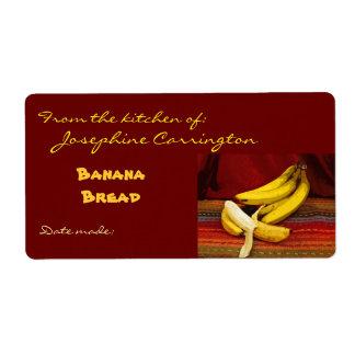 Banana Bread Labels