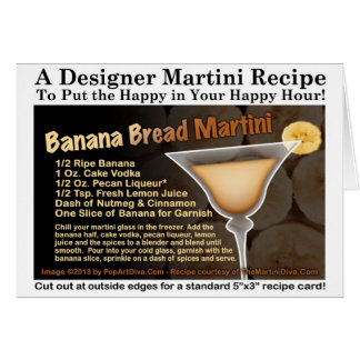 Banana Bread Martini Recipe Card