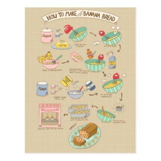 Banana Bread Recipe postcard
