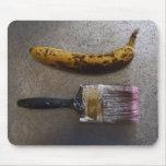 """Banana & Brush"" mousepad"