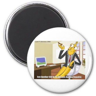 Banana CEO Funny Offbeat Cartoon Collectible Gifts Magnet