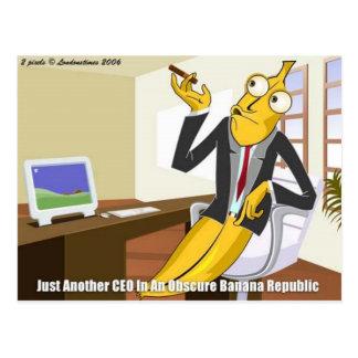 Banana CEO Funny Offbeat Cartoon Collectible Gifts Postcard