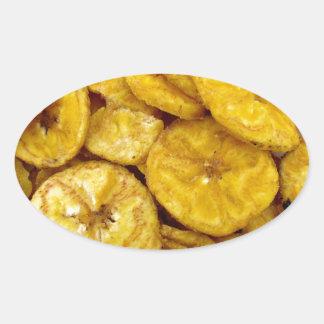 Banana Chips Oval Sticker