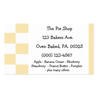 Banana Cream Pie Colors Double-Sided Standard Business Cards (Pack Of 100)
