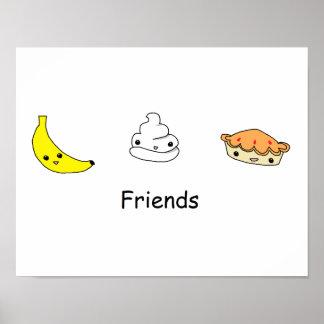 Banana Cream Pie Friends Poster