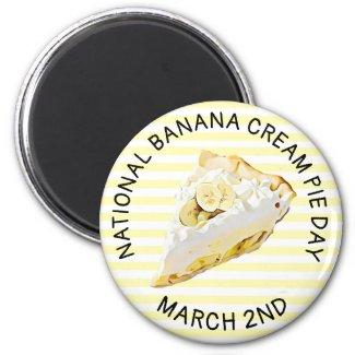 Banana Cream Pie Refrigerator Food Magnet