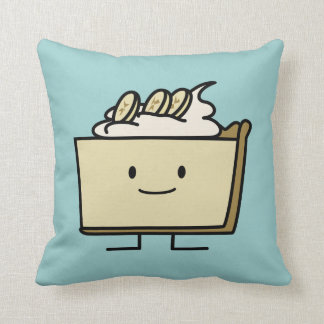 Banana Cream Pie Throw Pillow