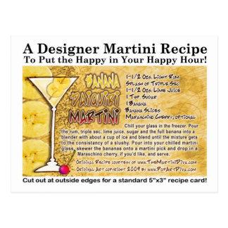 Banana Daiquiri Martini Recipe Postcard