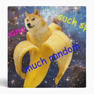banana   - doge - shibe - space - wow doge 3 ring binder