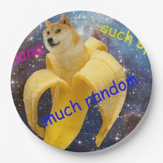banana   - doge - shibe - space - wow doge paper plate