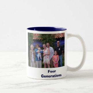 Banana,familyminusTiffany, FourGenerations Two-Tone Coffee Mug