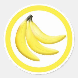 Banana flavor circle sticker labels