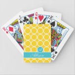 "Banana Flip Monogrammed Lexi Print Bicycle Playing Cards<br><div class=""desc"">Banana Flip Monogrammed Lexi Print</div>"
