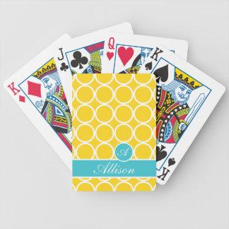 Banana Flip Monogrammed Lexi Print Bicycle Playing Cards
