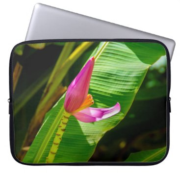 Beach Themed Banana Flower, Limahuli Gardens, Kauai Wetsuit Laptop Sleeve