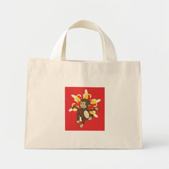 Banana Flower Monkey Floral Bag